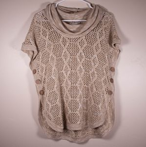 Christopher & Banks Cowl Neck Knit Top
